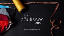 """Page d'accueille du site de la marque """"En Coulisses"""" créée par Anne-Claire PERRUCHON. Première marque de vêtements et accessoires pour le travail quotidien des métiers du spectacle."""