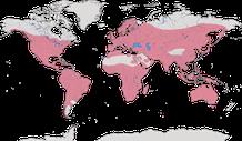 Karte zur Verbreitung der Ordnung der Segler (Apodiformes)