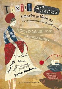 Karte 2. Textilkunst-Markt im Waldviertel 2016