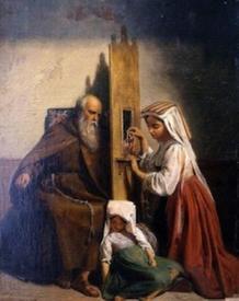 Le Confessionnal - Peinture Edouard Cibot