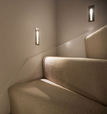 Stufenbeleuchtung mit den Einbauleuchten BORGO von astra