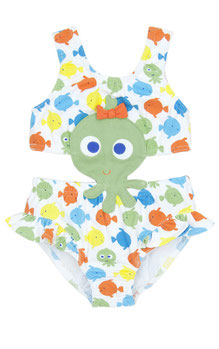 le Top, monokini, bikini, 1 piece, one piece, fish, fishy, beach, swim, bathing suit, cute, toddler, baby, pool, le Top, rehoboth, kids, girl, child
