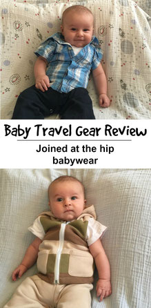 Don't miss out on this gear review! These adorable outfits will make the lives of busy parents even easier! Read more at www.babycantravel.com/blog