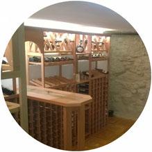 Weingestell aus Kirschholz, Luxusausführung