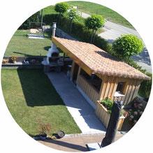 Umbauarbeiten in Waldkirch, Das Gartenhaus ist in Massiver Ausführung hergestellt worden