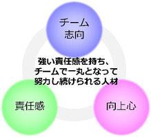 チーム志向・向上心・責任感を表す図