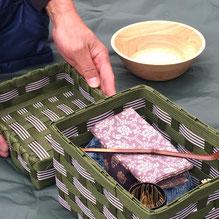 ピクニックにも良く似合う蔵太茶箱