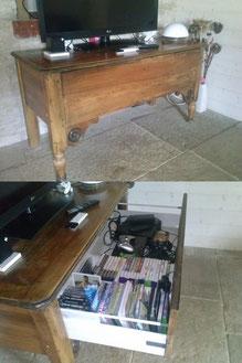 Modification dun vieux meuble en meuble TV