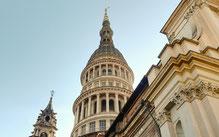 Novara, cupola e campanile della Basilica di San Gaudenzio