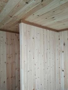 Внутренняя обшивка стен и потолка вагонкой