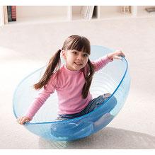 Bol géant pour jeux d'équilibre enfants. Bol transparent d'équilibre et coordination enfants  à acheter pas cher.