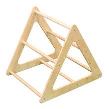 Triangle Edugym en bois pour jeux d'équilibre enfants. Matériel d'équilibre enfant à acheter pas cher.