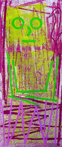 In Gedanken: Materialdruck auf Bütten, 39 x 24 cm, 2013