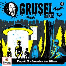 CD Cover Gruselserie - Folge 4 - Invasion der Aliens