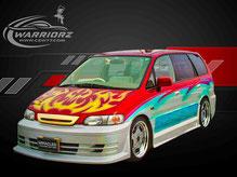 カスタムペイント車、キャンディーフレーク塗装でグラフィックス塗装されたホンダオデッセの写真