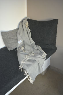 Lambswool Cosy - Silvergrey - S. Fischbacher Living