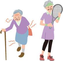 66歳〜女性のイラスト