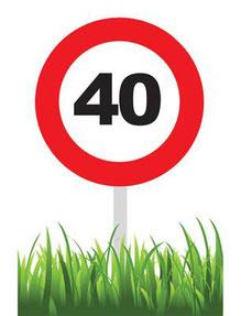 Confetti Kanon € 2,95 verkeersbord 40