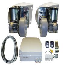 Kit AKIA STAR PRO MAX 24 - 2 hojas motorización de rueda portón abatible