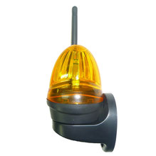 12-24 volt flashing light with antenna for AKIA France System's wheeled gate motor drives