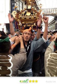 OL虹子さん:三社祭
