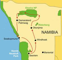 Kleingruppenreise Namibia ab/bis Windhoek