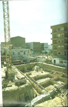 Obras ayuntamiento 1987. Cortesía de Alberto García
