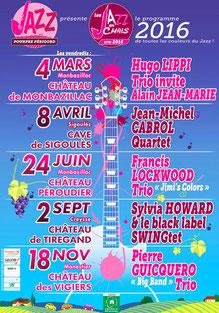Affiche du programme Jazz en Chais 2015