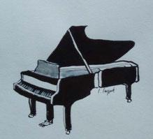 Piano - Tusche