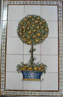 """Apfelbaum im Topf"" Art.-Nr.:PN-122, Größe: 79x51cm"