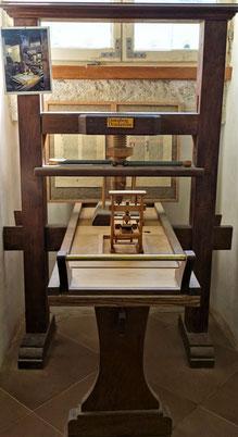 Nachbau der Druckpresse Gutenberg. Foto: Jennifer Peppler