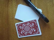 カードゲームの白紙