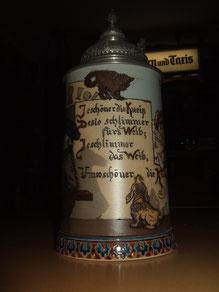 Villeroy & Boch Mettlach    Bierkrug um 1900