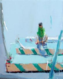 GUO CHANGLIANG, Green Series No. 39, 2016, Acryl auf Leinwand, 100 x 80 cm, € 4.500,--