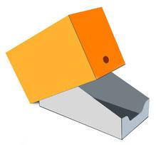 Display mit Stülpdeckel Shelf-Ready Packaging