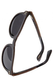 Ovale Sonnenbrille aus Holz