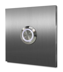 Hausnummernschild einstellig, aus Edelstahl oder Aluminium