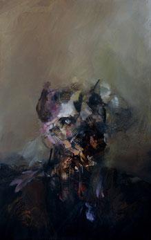"""""""Portrait IV"""" Acrylique sur toile dim 61cmx38cm"""
