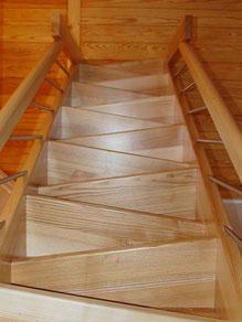 Raumspartreppe mit trapezförmigen Stufen