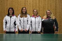 Die Damenmannschaft der SG 03 Mitlechtern in der Saison 16/17 v.l.n.r.: Regina Tafat, Yasmina Tafat, Anja Schuhmann, Anna Steingrüber