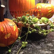 Herbst-Kurs, Kürbis verzieren