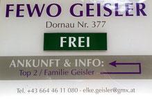Hauseingang Apart Elke - Fewo Geisler Finkenberg Tux Zillertal
