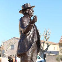 Statue-Buste-Mistral-Langloÿs