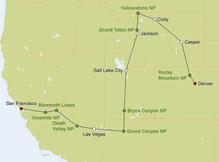 Mietwagenreise Colorado und Kalifornien