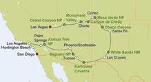 Mietwagenreise Las Vegas nach San Diego