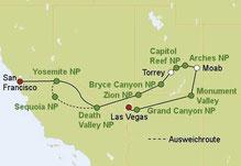 Mietwagenreise Westen USA