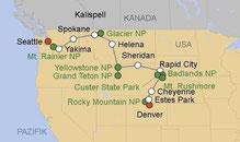 Mietwagenreise Nordwesten USA