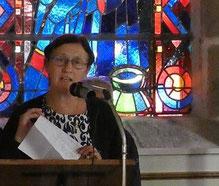 Philippine de Chabannes, présidente de  l'association « Les amis de la chapelle »