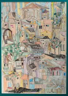 Nr.2669 Stadtansicht (Urban-Art 1)