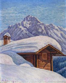 Nr.617 Alphütte im Winter